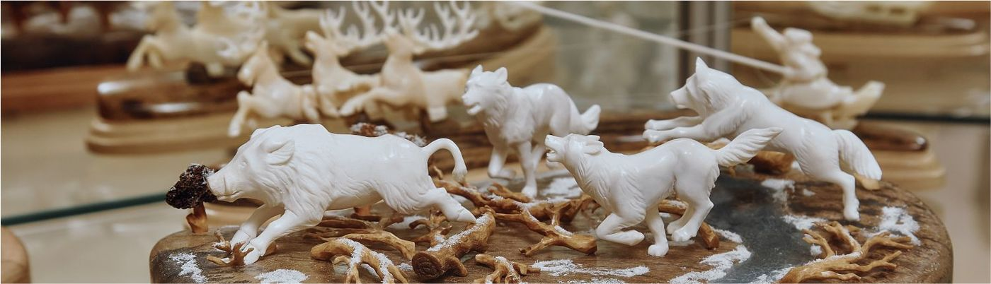 Bone carving factory